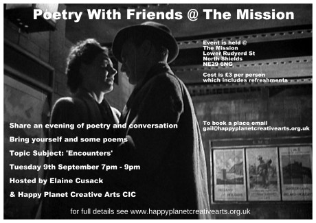 poetry flyer encounters