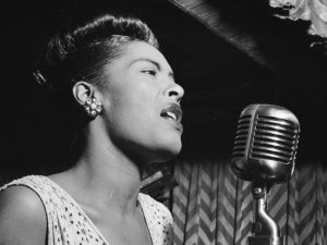 UNITED STATES - MARCH 27:  CARNEGIE HALL  Photo of Billie HOLIDAY  (Photo by William Gottlieb/Redferns)