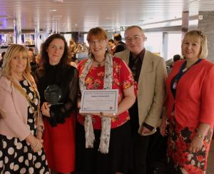 Sandy, Jen and Elaine with NT councillors Cath Davis and Karen Bolger